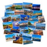 Conjunto de fotos coloridas del recorrido Foto de archivo libre de regalías