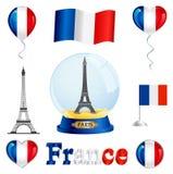 Conjunto de Francia fotos de archivo libres de regalías