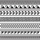 Conjunto de fronteras geométricas Fotos de archivo libres de regalías