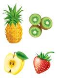 Conjunto de fruta Fotografía de archivo