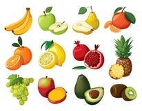 Conjunto de fruta Imagenes de archivo