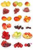 Conjunto de fruta aislado en el blanco. Fotos de archivo