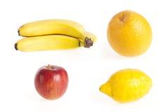 Conjunto de frutas Foto de archivo