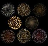 Conjunto de fuegos artificiales Fotos de archivo libres de regalías