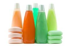 Conjunto de fuentes higiénicas coloridas Foto de archivo libre de regalías