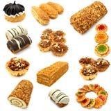 Conjunto de galletas Imagen de archivo libre de regalías