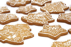 Conjunto de galletas del pan de jengibre Imagen de archivo