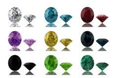Conjunto de gemas Fotos de archivo libres de regalías