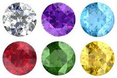 Conjunto de gemas Imágenes de archivo libres de regalías