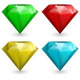 Conjunto de gemas stock de ilustración