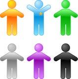 Conjunto de gente coloreada Foto de archivo
