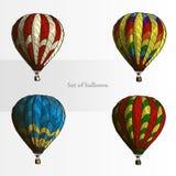 Conjunto de globos Imagenes de archivo