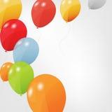 Conjunto de globos coloreados, ilustración del vector. EPS ilustración del vector