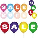 Conjunto de globos de la venta Foto de archivo libre de regalías