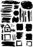 Conjunto de Grunge de manchas de óxido de la pintura efectos sucios de la decoración Imágenes de archivo libres de regalías