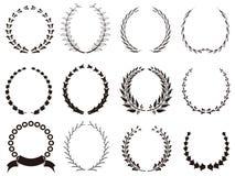 Conjunto de guirnaldas negras del laurel libre illustration