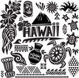 Conjunto de Hawaii Imágenes de archivo libres de regalías