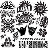 Conjunto de Hawaii Foto de archivo libre de regalías