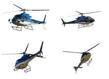 Conjunto de helicópteros Imágenes de archivo libres de regalías