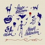 Conjunto de Helloween Imagen de archivo libre de regalías