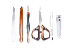 Conjunto de herramienta de la manicura Foto de archivo libre de regalías