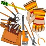 Conjunto de herramientas. Imágenes de archivo libres de regalías