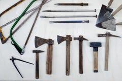 Conjunto de herramientas Foto de archivo libre de regalías