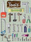 Conjunto de herramientas ilustración del vector