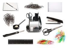 Conjunto de herramientas de la oficina Fotografía de archivo libre de regalías