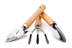 Conjunto de herramientas del jardinero o del florista Fotografía de archivo