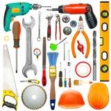 Conjunto de herramientas industriales Foto de archivo