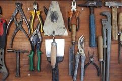 Conjunto de herramientas manuales foto de archivo