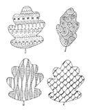 Conjunto de hojas stock de ilustración