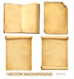 Conjunto de hojas de papel viejas. Vector. libre illustration