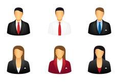 Conjunto de hombres de negocios de los iconos Imagen de archivo