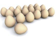 Conjunto de huevos Imagenes de archivo