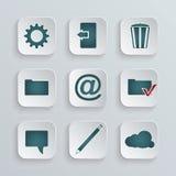 Conjunto de iconos Imagen de archivo libre de regalías
