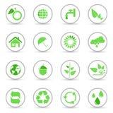 Conjunto de iconos ambientales y de reciclajes libre illustration