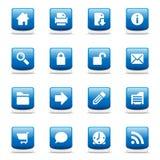 Conjunto de iconos azules brillantes del Web Imagen de archivo libre de regalías