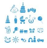 Conjunto de iconos - bebé Imágenes de archivo libres de regalías