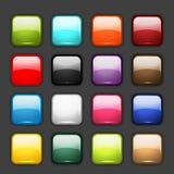 Conjunto de iconos brillantes del botón ilustración del vector