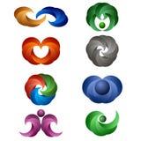 Conjunto de iconos coloreados Imagen de archivo libre de regalías
