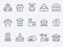Conjunto de iconos de la casa libre illustration