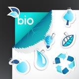 Conjunto de iconos de la ecología. ilustración del vector