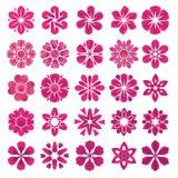 Conjunto de iconos de la flor stock de ilustración