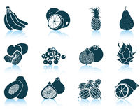 Conjunto de iconos de la fruta Fotografía de archivo