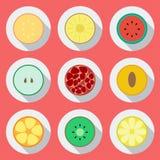 Conjunto de iconos de la fruta Diseño plano 'De VectorImagen de archivo libre de regalías