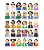 Conjunto de iconos de la gente Imagen de archivo libre de regalías