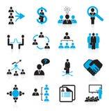 Conjunto de iconos de la gestión 16 y de los recursos humanos Foto de archivo libre de regalías