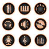 Conjunto de iconos de la música Libre Illustration